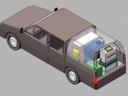 Car-mounted smart fumigation device